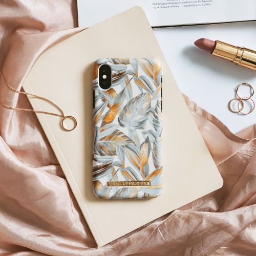 [iDEAL OF SWEDEN] FASHION CASE S/S19 IPHONE X/XS PLATINUM LEAVES