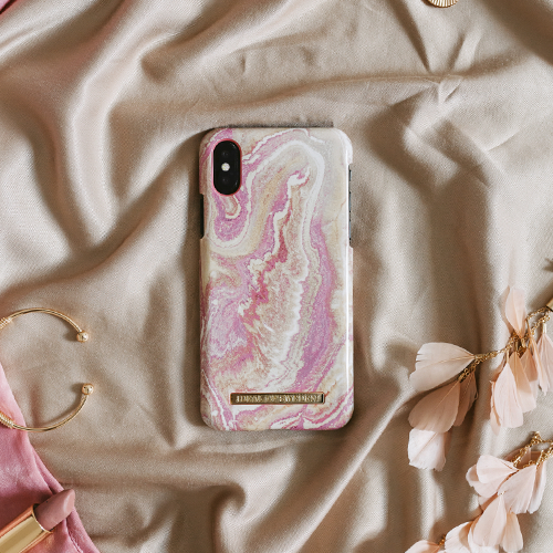 [iDEAL OF SWEDEN] FASHION CASE S/S19 IPHONE X/XS/XS MAX GOLDEN BLUSH MARBLE