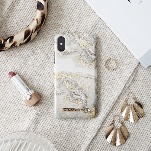 [iDEAL OF SWEDEN] FASHION CASE S/S19 IPHONE X/XS/XS MAX SPARKLE GREIGE MARBLE