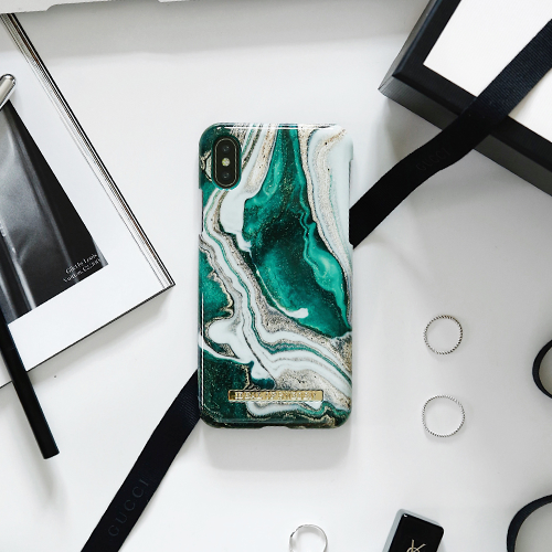 [iDEAL OF SWEDEN] FASHION CASE A/W18 IPHONE X/XS/XS MAX GOLDEN JADE MARBLE