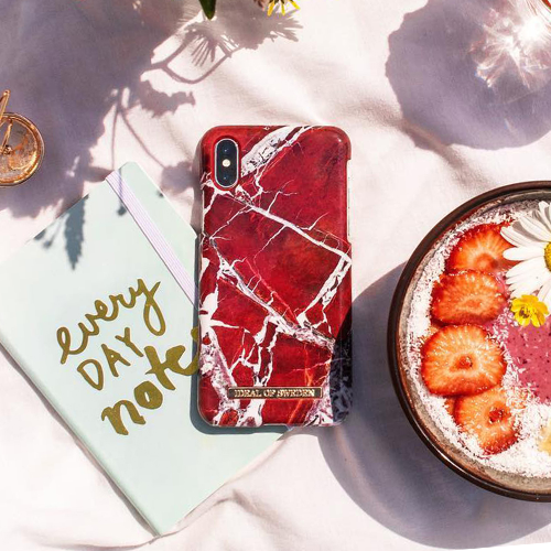 [iDEAL OF SWEDEN] FASHION CASE S/S18 IPHONE X/XS/XS MAX SCARLET RED MARBLE